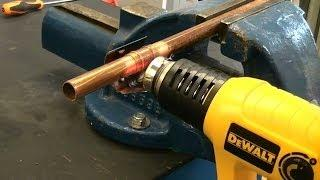 How to Solder copper pipe using a heat gun