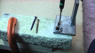 How to use Concrete screws