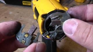 How to replace Dewalt cordless drill brushes.