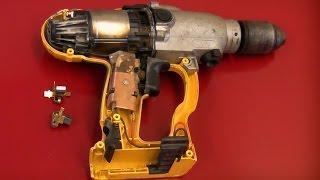 How to replace the brushes in the Dewalt 24v DW006 cordless drill
