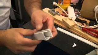 Install mini trunking with silicone