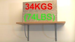 Drywall shelf weight test
