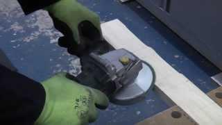 How to Shape timber using an angle grinder