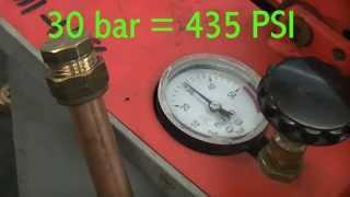 compression fitting pressure test