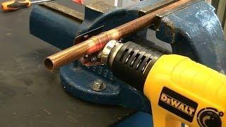 How to Solder copper pipe using a heat gun