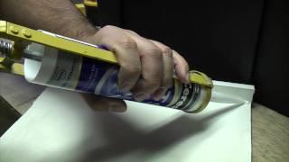 Tips for using a silicone gun or caulk gun