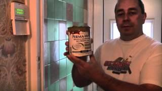 How to paint over tiles