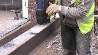How to use a magnetic base drill to drill structural steel
