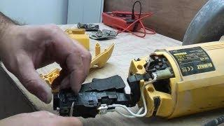 Angle grinder electrical fault finding