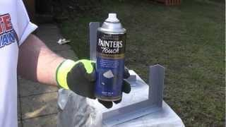 How to spray paint metal