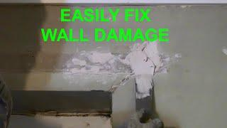 How to repair drywall damage
